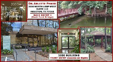 Dr. Arlette Pharo is a Holistic Family Physician in private practice for 25 years. Dr. Pharo's 2015 New Office Location is 2030 N. Loop W., Ste. 112 Houston, Tx 77018. (Located in The Preserve Office Park off 610 N. Loop W. between Ella Blvd and TC Jester East)
